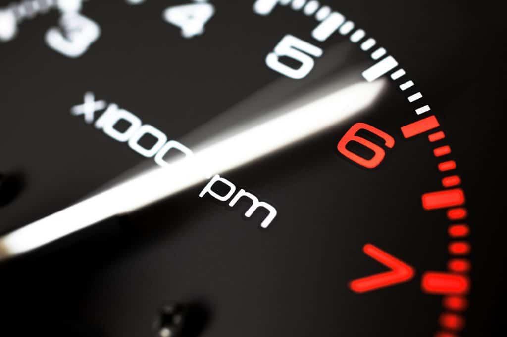 tachometer close up
